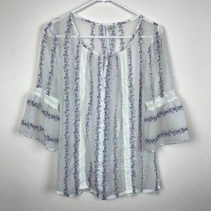 3/$30 - LC Lauren Conrad Boho Belle Sleeve Blouse